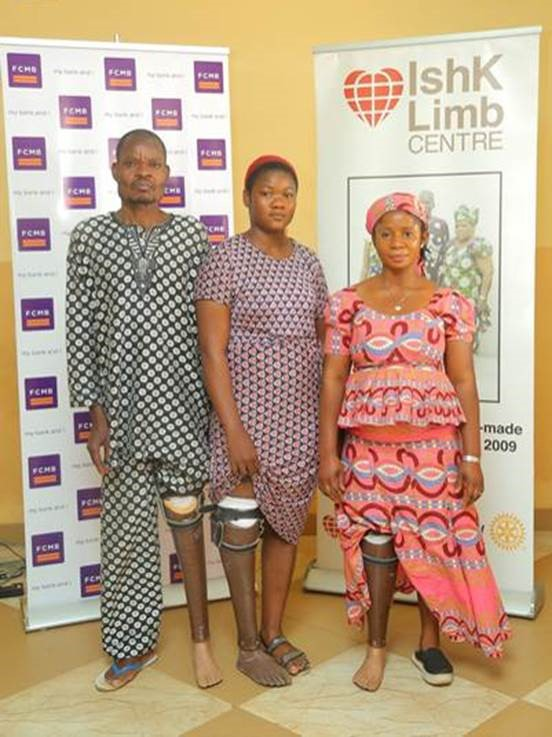 FCMB Donates Artificial Limbs